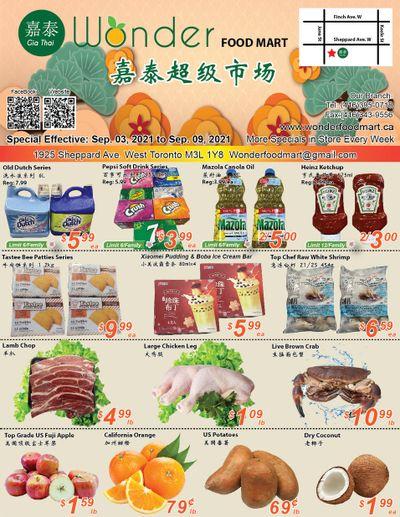 Wonder Food Mart Flyer September 3 to 9