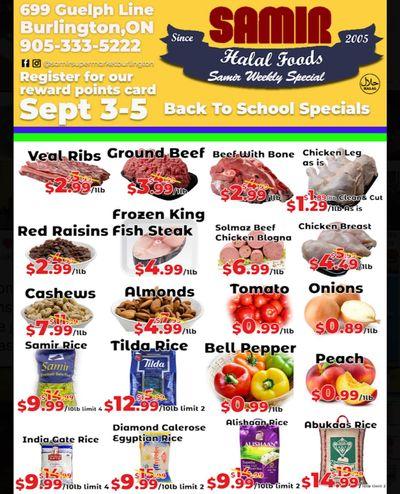 Samir Supermarket Flyer September 3 to 5