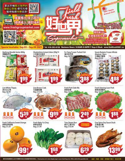 Field Fresh Supermarket Flyer September 3 to 9