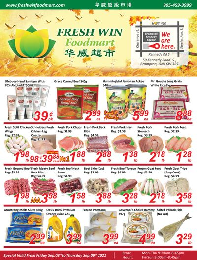 Fresh Win Foodmart Flyer September 3 to 9