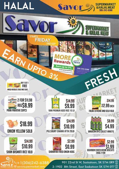 Savor Supermarket Flyer September 3 to 16