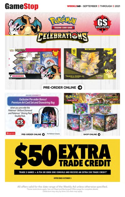 GameStop Flyer September 3 to 9