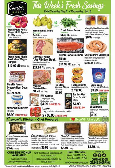 Cousin's Market Flyer September 2 to 8