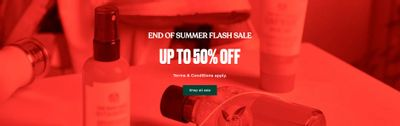 The Body Shop Canada End of Summer Sale: Save Up to 50% OFF + 10% OFF Sitewide