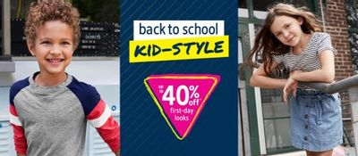 Carter's OshKosh B'gosh Canada Deals: Save Up to 40% OFF Back to School Kids' Style + Up to 75% OFF Clearance + More