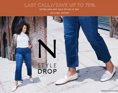 Naturalizer Canada Last Call Sale: Save up to 75% off, with an Extra 30% off Sale Styles with Coupon Code