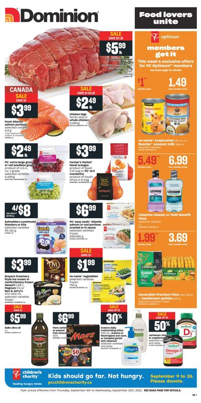 Dominion Flyer September 9 to 15