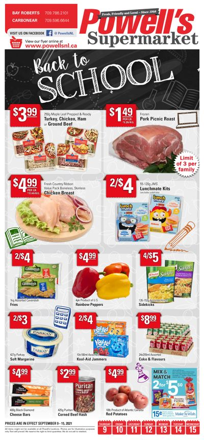 Powell's Supermarket Flyer September 9 to 15