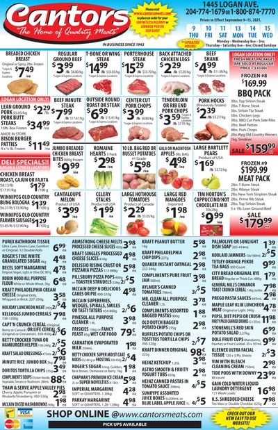 Cantor's Meats Flyer September 9 to 15