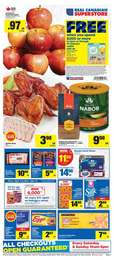 Real Canadian Superstore (West) Flyer September 10 to 16