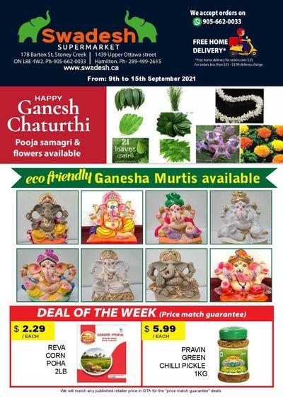 Swadesh Supermarket Flyer September 9 to 15