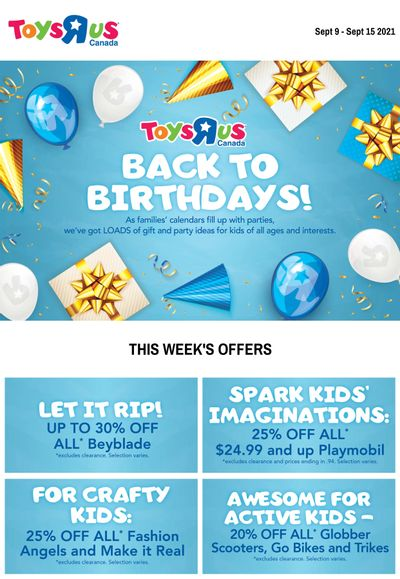 Toys R Us Flyer September 9 to 15