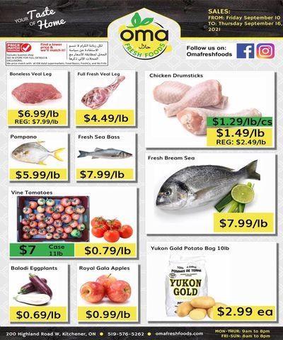 Oma Fresh Foods Flyer September 10 to 16