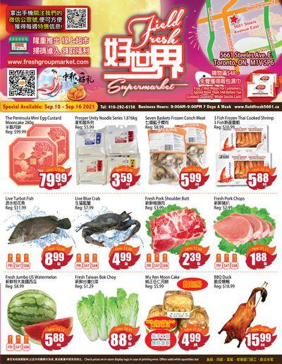 Field Fresh Supermarket Flyer September 10 to 16