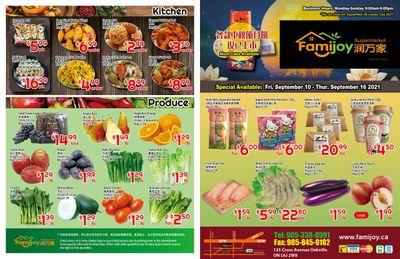 Famijoy Supermarket Flyer September 10 to 16