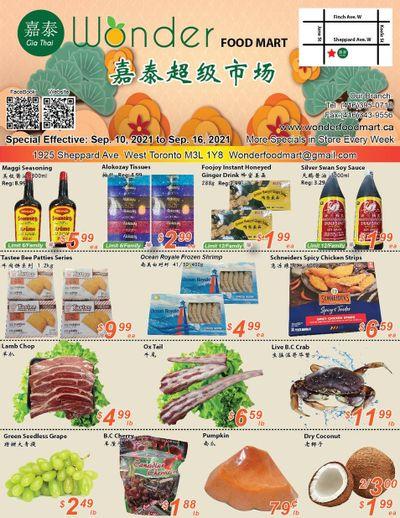 Wonder Food Mart Flyer September 10 to 16