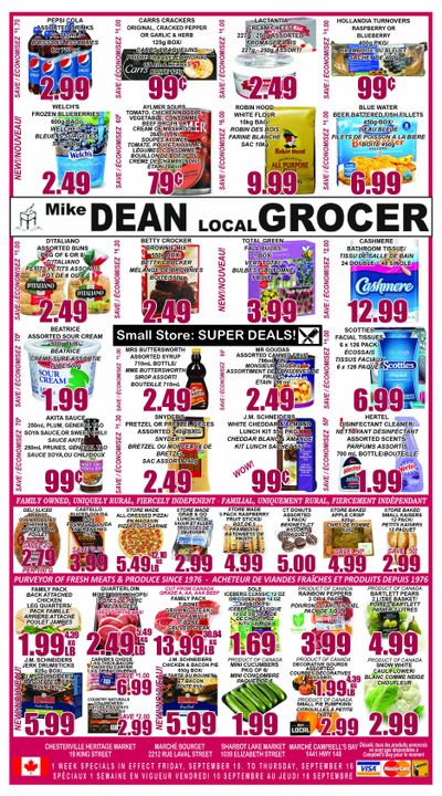 Mike Dean Local Grocer Flyer September 10 to 16