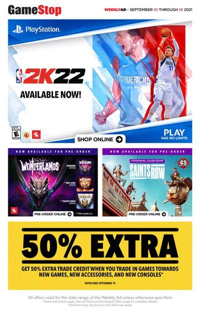 GameStop Flyer September 10 to 16