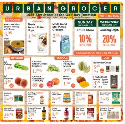 Urban Grocer Flyer September 10 to 16