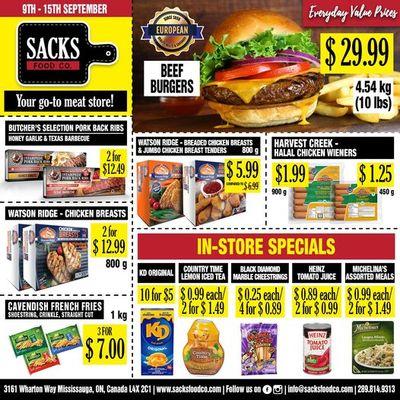 Sacks Food Co. Flyer September 9 to 15