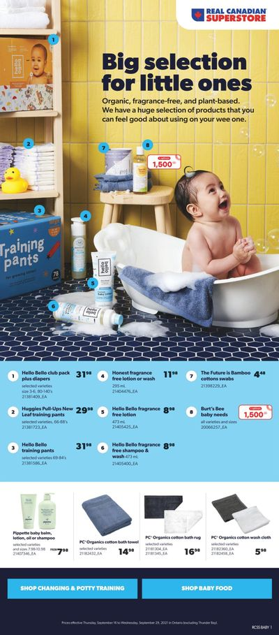 Real Canadian Superstore Baby Insert September 16 to 30