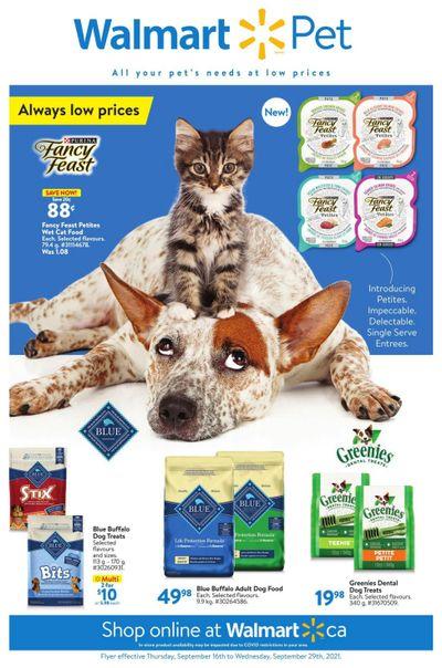 Walmart Pet Flyer September 16 to 29