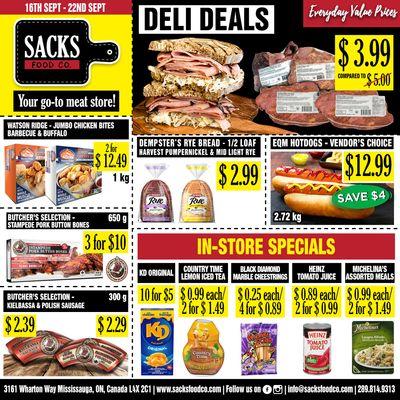 Sacks Food Co. Flyer September 16 to 22