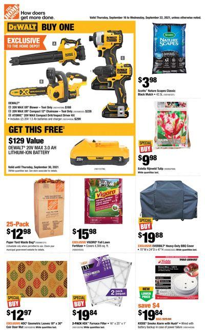 Home Depot (BC) Flyer September 16 to 22