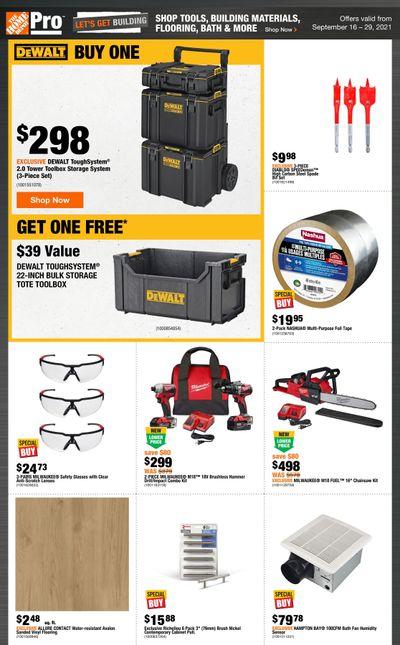 Home Depot Pro Flyer September 16 to 29