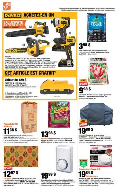 Home Depot (QC) Flyer September 16 to 22