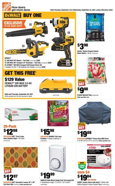 Home Depot (Atlantic) Flyer September 16 to 22