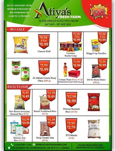 Atiya's Fresh Farm Flyer September 16 to 29