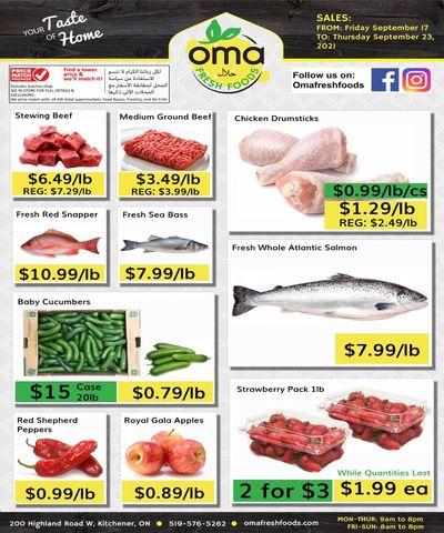 Oma Fresh Foods Flyer September 17 to 23