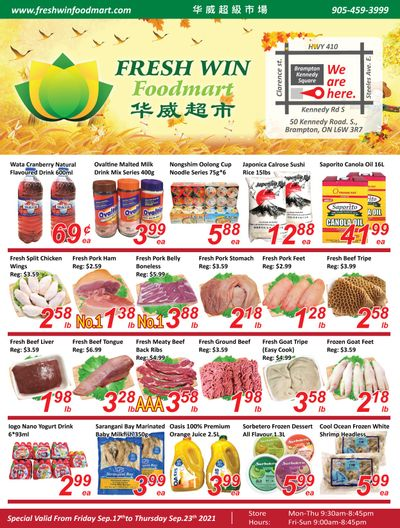 Fresh Win Foodmart Flyer September 17 to 23