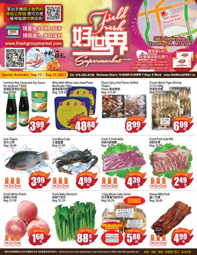 Field Fresh Supermarket Flyer September 17 to 23
