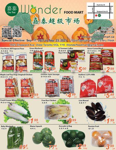 Wonder Food Mart Flyer September 17 to 23