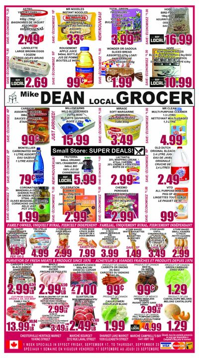 Mike Dean Local Grocer Flyer September 17 to 23