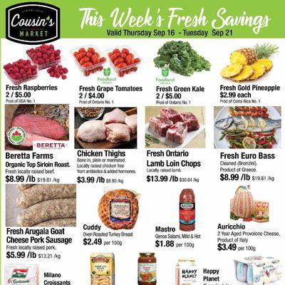 Cousin's Market Flyer September 16 to 21