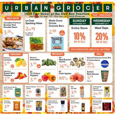 Urban Grocer Flyer September 17 to 23