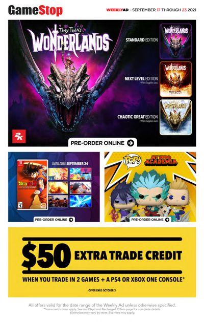 GameStop Flyer September 17 to 23
