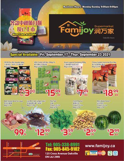 Famijoy Supermarket Flyer September 17 to 23