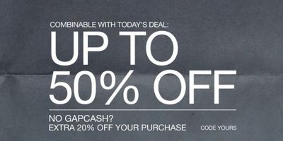 Gap Canada Deals: Save Up to 50% OFF School-Ready Styles + Extra 20% OFF Your Purchase