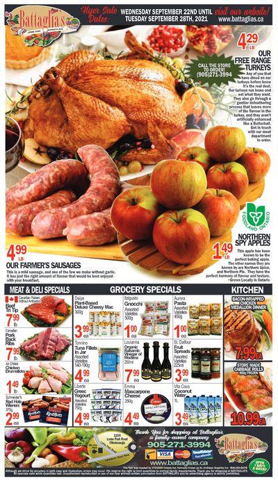 Battaglia's Marketplace Flyer September 22 to 28