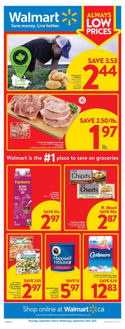 Walmart (Atlantic) Flyer September 23 to 29