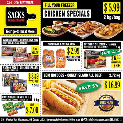 Sacks Food Co. Flyer September 23 to 29