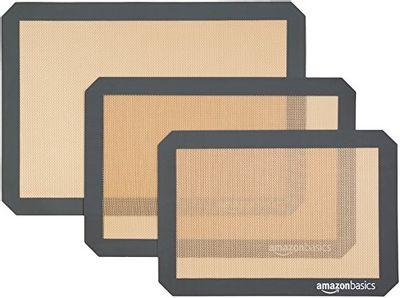 AmazonBasics Silicone Baking Mat Sheet, Set of 3 $11.94 (Reg $20.77)