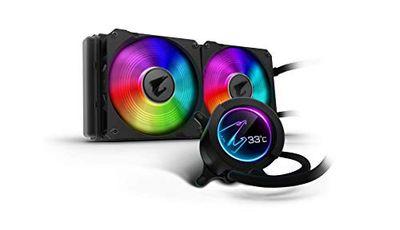 AORUS RGB AIO Liquid Cooler 280, 280mm Radiator, Dual 140mm Windforce PWM Fans, Customizable Full Color LCD Display, Advanced RGB Lighting and Control, Intel 115X/2066, AMD AM4, TR4 $188.98 (Reg $198.98)