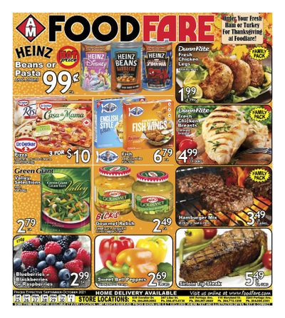 Food Fare Flyer September 25 to October 1