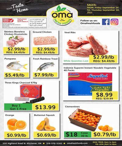Oma Fresh Foods Flyer September 24 to 30