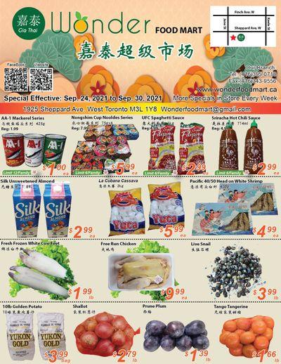 Wonder Food Mart Flyer September 24 to 30